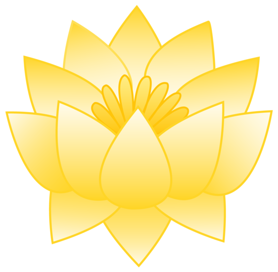 Yellow Lotus Flower - Free Clip Art