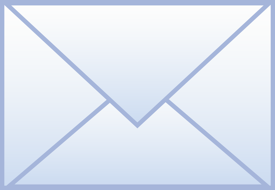 Simple Blue Mail Icon