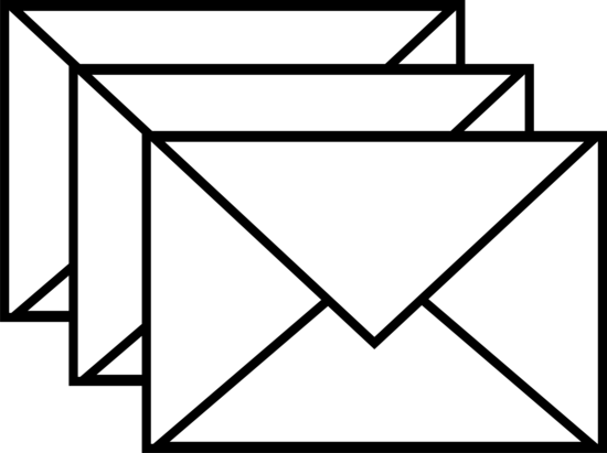 Three White Envelopes Logo