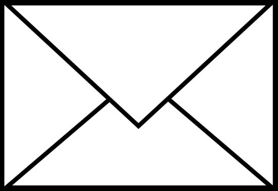 White Mail Letter Logo