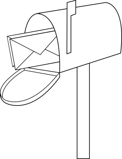 mailbox coloring pages for kids | Mailbox Line Art - Free Clip Art