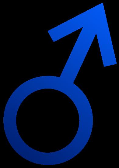 Blue Male Symbol
