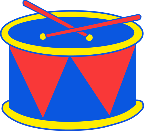 Red and Blue Marching Drums