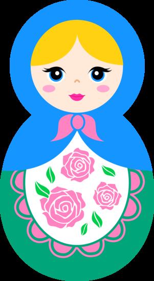 Cute Matryoshka Doll Clip Art