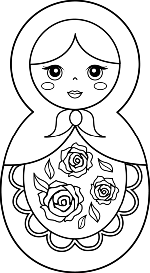 babushka coloring pages - photo#22