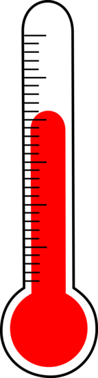 Drawing of Red Thermometer