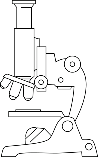 Microscope Line Art - Free Clip Art