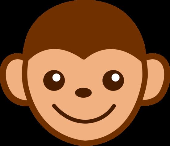 Cute Monkey Face Clip Art Free Clip Art