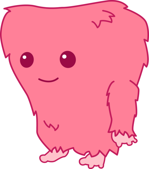 Cute Fuzzy Pink Monster