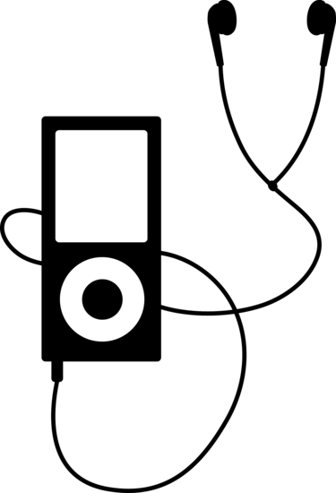 Black MP3 Player Logo