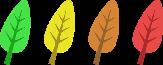 Four Autumn Season Leaves