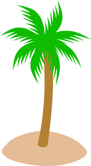 Simple Island Palm Tree Design