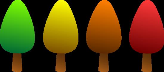 Logo Design of Four Simple Trees