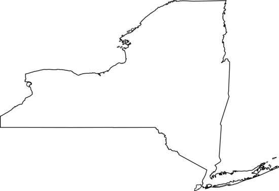 Colorable New York Map