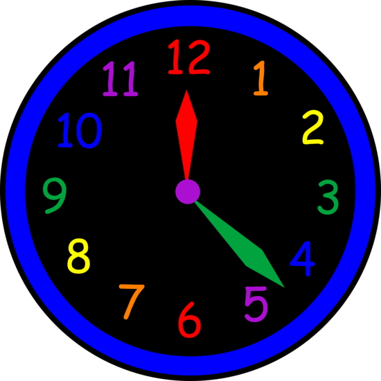 Neon Colored Kids Wall Clock