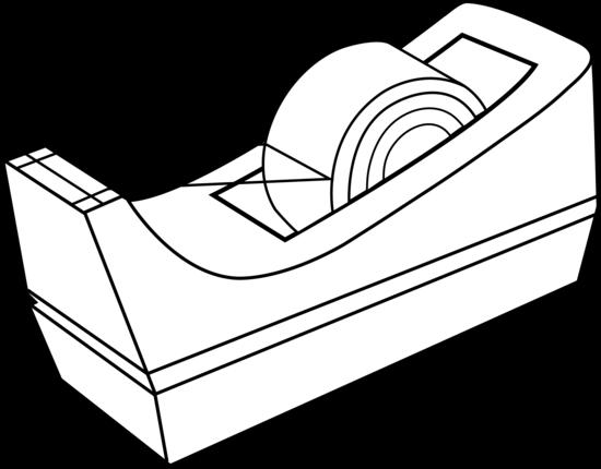 Black and White Tape Holder