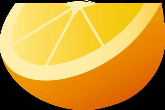 Wedge of Orange Fruit