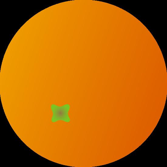 Simple Orange Fruit Clipart