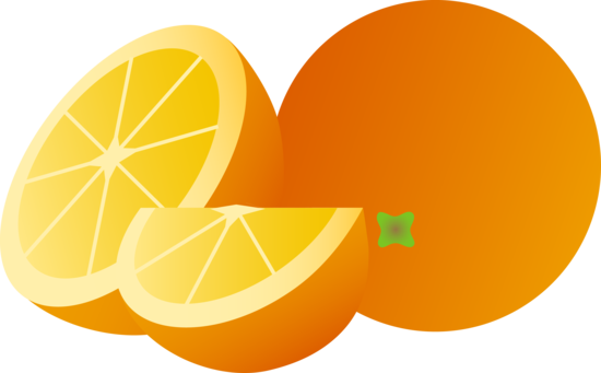 Orange Fruit Whole and Sliced