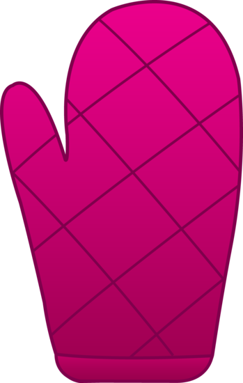 Pink Oven Mitt