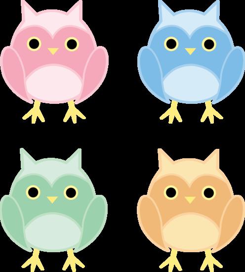 Set of Four Owls