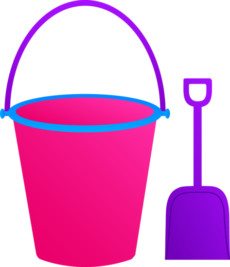 Pink Bucket and Purple Shovel
