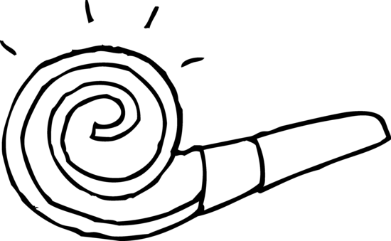 Party Horn Coloring Page