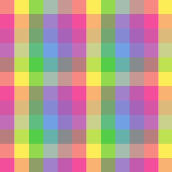 Cute Colorful Checkered Pattern