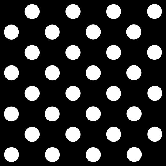 white polka dots on black background