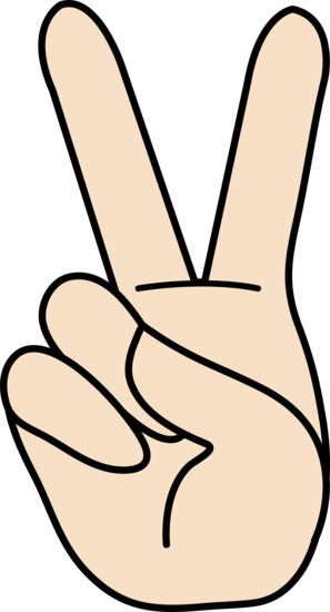 Peace Hand Sign Clipart