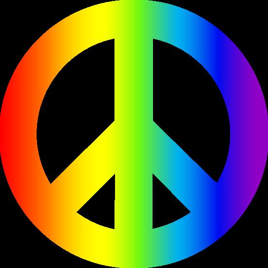 Rainbow Peace Sign - F...