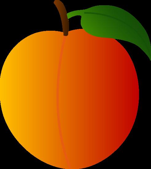 Juicy Orange Peach Free Clip Art