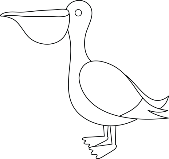 pelican animal coloring pages. Free Clip Art Colorable Pelican
