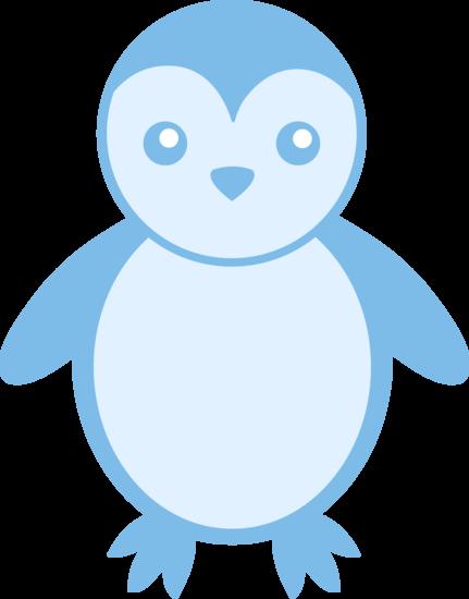 Baby Blue Penguin Free Clip Art