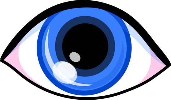 Simple Blue Eye Clip Art