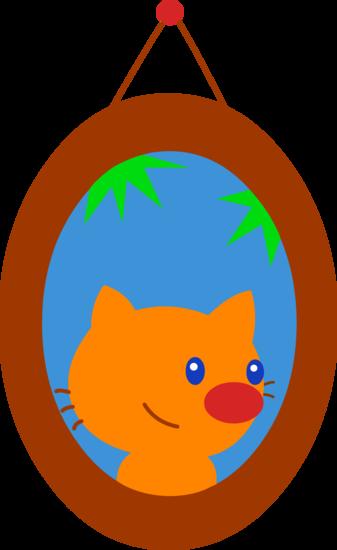 Portrait of Pet Cat Clip Art