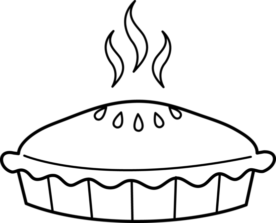 free pie coloring pages for kids | Pie Coloring Page - Free Clip Art