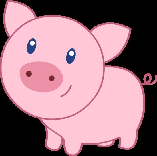 Cute Happy Pink Pig
