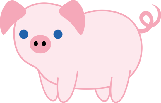free clip art pink pig - photo #8