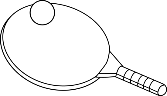 Ping Pong Coloring Page