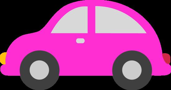 Cute Pink Toy Car Clip Art