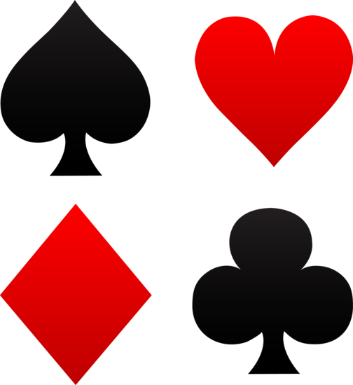 Set of Playing Card Suits - Free Clip Art