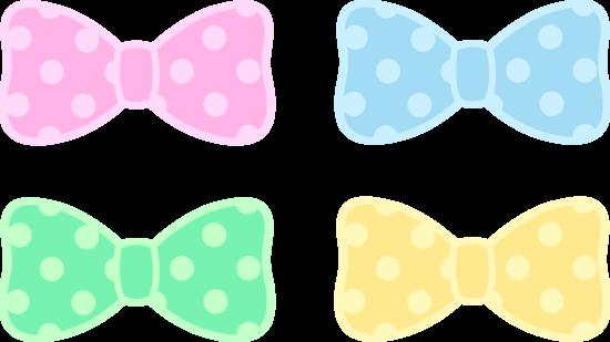 Cute Polka Dot Bows Clipart