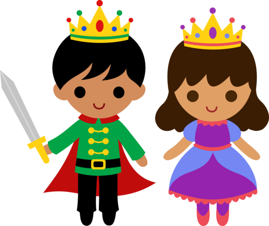 Cute Prince and Princess 2 - Free Clip Art
