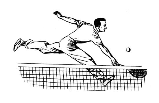 Tennis Public Domain Clip Art