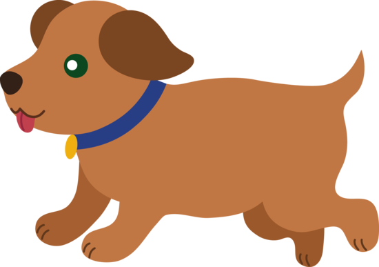 Cute Brown Puppy Running