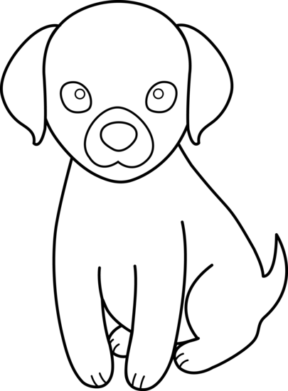 Cute Puppy For Coloring