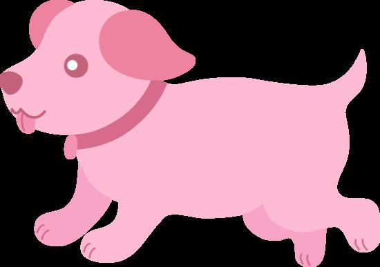 Cute Pink Puppy Clip Art