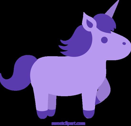 Cute Purple Unicorn Clip Art