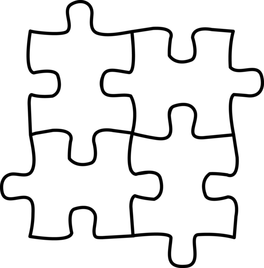 Puzzle Pieces Coloring Page